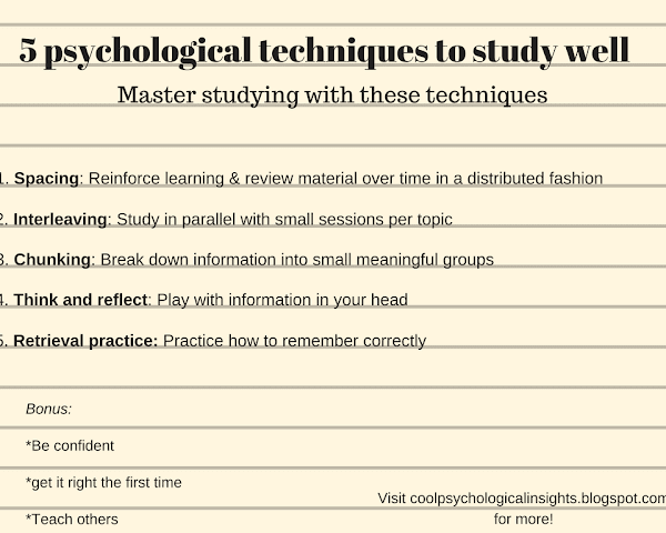 5 scientific study tips and techniques: Interleaving, spaced-repetition, retrieval practice...