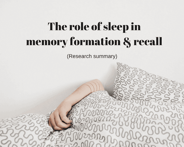 Do not underestimate the effect of sleep on memory